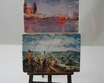 Miniature Dolls House Artist Painting Easel Set