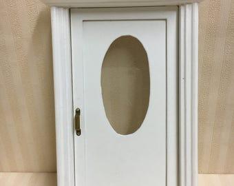 1:12 Dolls House White Wooden Front Door