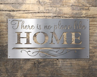 There is no place like HOME - Stainless Steel Wall Art