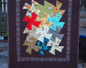 Baby or toddler quilt.