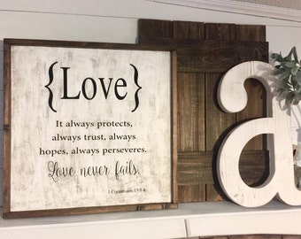 Love  24X24 Wood Sign