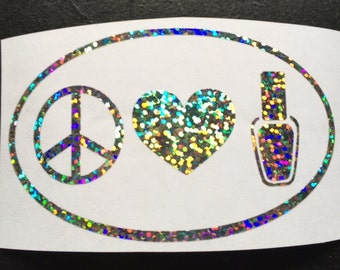 Peace, Love, Polish Decal