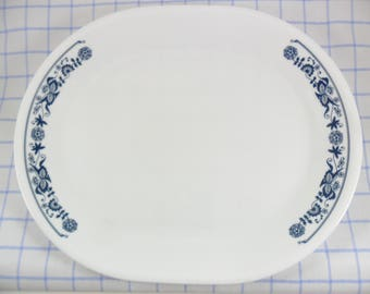 Corelle Platter Vintage Old Town Blue Corning Ware Made in USA