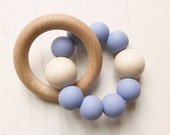 BLUEBELL  BEECH  RATTLE Teether  Baby Gift  Teething Toy  Baby Shower