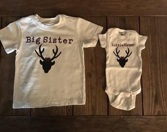 Big Sister/Little Sister or Big Sister/Little Brother Matching Shirts