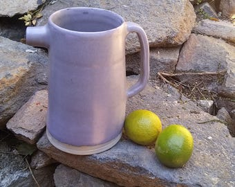 Grey and mauve pitcher inspired by Japanese style