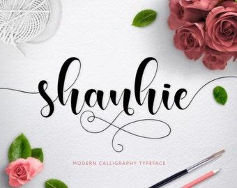 Font, Digital Fonts, Handwritten Font, Modern Calligraphy Font, Watercolor font, Wedding Font, Brush font. Instant Download. 11.