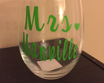 Personalized MRS Wine Glass