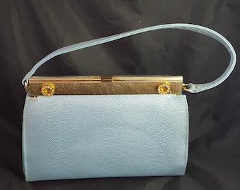 Vintage Light Blue Small Handbag, Purse