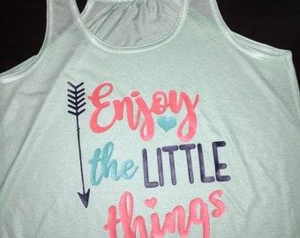 Enjoy the Little things ladies flowy tank