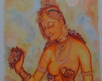 Sigiriya Fresco-Original Painting