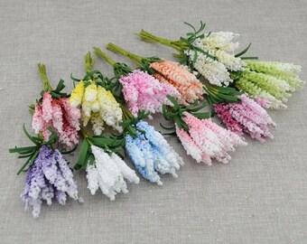 10 Pcs Artificial Foam Lavender Flowers
