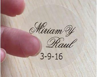 120 Pcs Personalized Wedding Sticker Seals