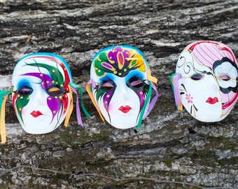 Set of 3 Mardi Gras Masks
