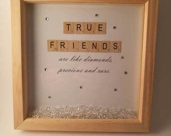 True Friends /Box Frame/Keepsake/Memory Frame