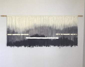 Dip Dyed Tapestry | Fiber Art | Bohemian Decor | Wall Hanging