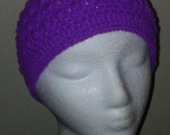 Purple Sparkle Ultra Soft Beanie