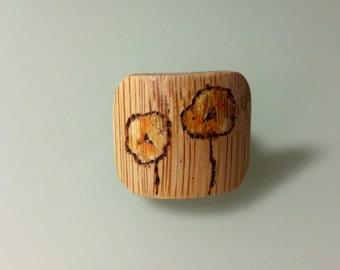 Yellow Poppy Ring