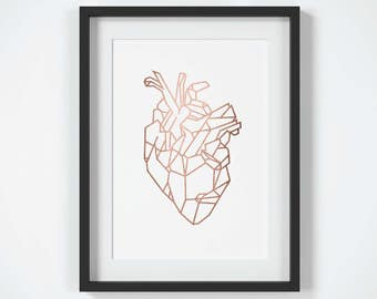 Heart Wall Art anatomical heart art | etsy