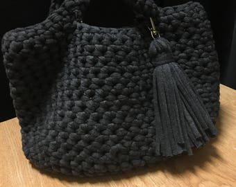 Charcoal Grey Bucket Bag