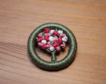 Dorset Button posy brooch, lovely Mother's Day gift, pink hues