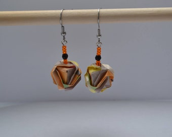 Origami, Japanese gem earrings