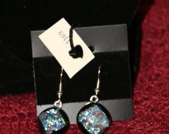 Dichroic earrings Item #1169