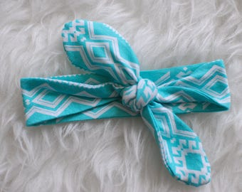Teal baby girl top knot headband, baby girl accessories, top knot headband, teal top knot headband, baby girl headbands