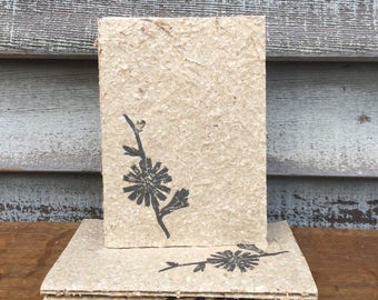 Hand Bound Journal CHICORY Covered by Handmade Paper