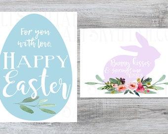 Easter tags set, printable easter ta