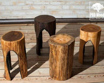 Exclusive products from wood, wood seat.