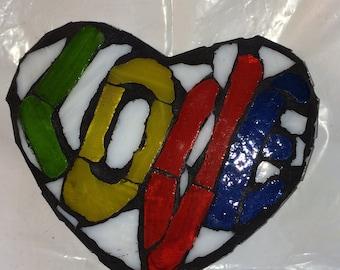 Mosaic  'Mod Love' Heart Wall Art