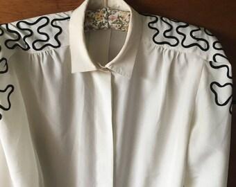 Vintage 80's blouse size S-M