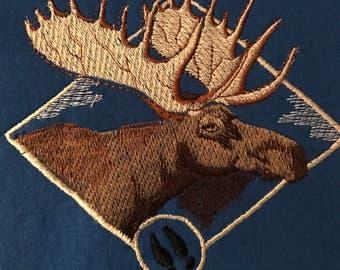Embroidered Moose Sweatshirt