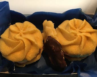 Unicorn viennese whirls and dipped fingers