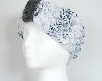 Marble Headband with Rolled Wool Crown/ Goosebumps Design