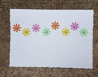 Flowers in a Row Handmade Card