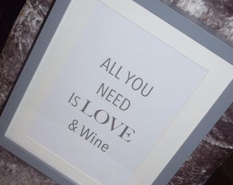 A4 Framed quote