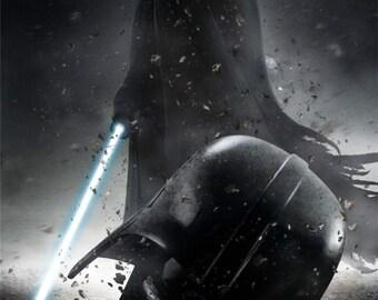 Star Wars Darth Vader The Evil Never Ends Just Evolves Light Saber Cool Creative Gift Poster Decoration Wall Home