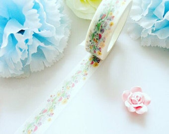 Flowers Vines Washi Tape Floral Leaves Masking Decorative Tape