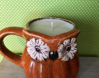 Owl Mug Candle