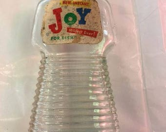 Glass Joy Dishwashing liquid bottle