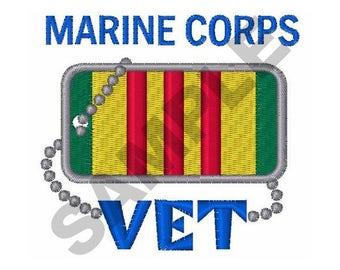 Marine Corps Vet - Machine Embroidery Design