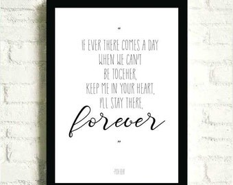 Poor Bear Quote - Digitally made frame