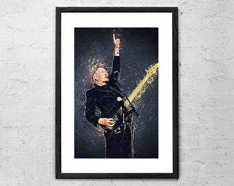 Roger Waters - Illustration - Pink Floyd - Rock Poster - Rock and Roll Art - Pink Floyd Poster - Pink Floyd Art - Music Gift - Music Poster