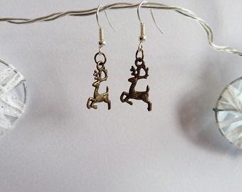 (Sale) reindeer earrings