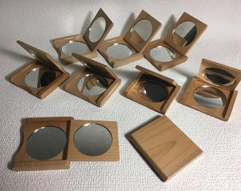 Free shipping. japan.DIY Kits.Pocket Mirror.Supply.Unfinished Wood mirror.For painting and decorating.