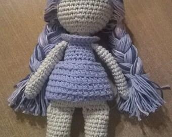 Organic crochet doll Lilla