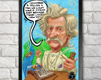 Mark Twain Poster Print A3+ 13 x 19 in - 33 x 48 cm  Buy 2 get 1 FREE