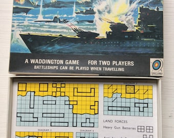Vintage Battleships game by Waddingtons. Travel edition.